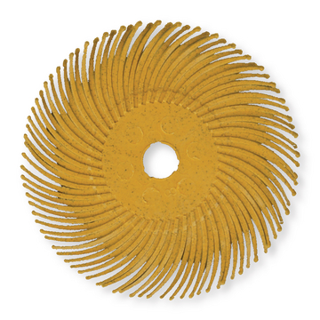 Bristle Disc Radial 75mm gelb P80